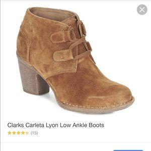 Clarks Artisan Carleta Lyon suede low ankle boots